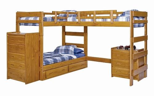 Boone Sleeps 3 Higher L Shape Loft Bed Windsor