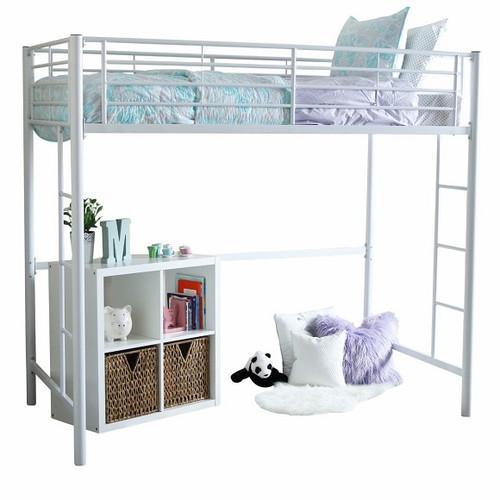 Nova White Metal Loft Beds for Teens