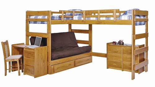 Boone Sleeps 3 or 4 Higher L Shape Loft Bed Windsor