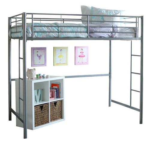 Tempo Silver Metal Loft Beds for Teens