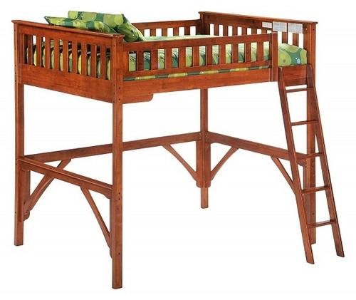 Eastwood Cherry Twin Wood Loft Bed