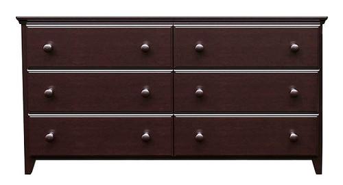 Silas Espresso 6 Drawer Dresser
