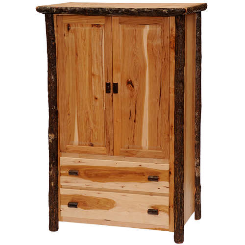 Whistler Two Drawer Wardrobe Traditional Hickory