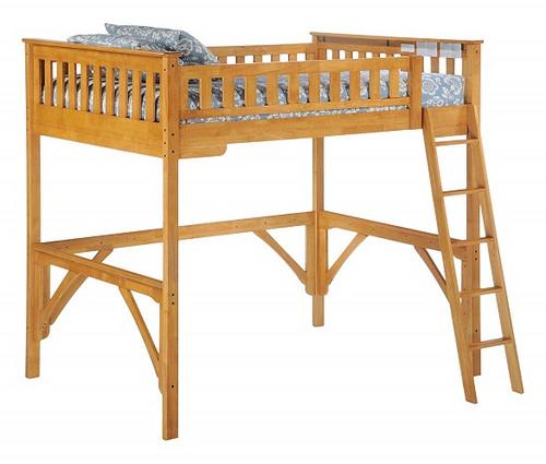 Kirkwood Oak Twin Wood Loft Bed