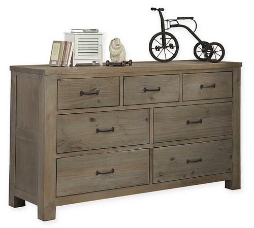Crosspointe Driftwood 7 Drawer Dresser
