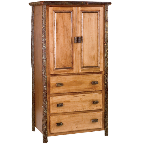 Whistler Three Drawer Armoire Traditional Hickory