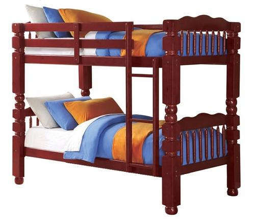 Paul Bunyan Cherry Twin over Twin Bunk Bed