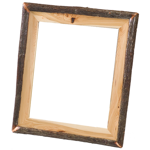Whistler Log Mirror Traditional Hickory