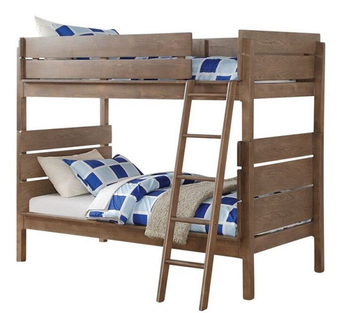 Trig Twin over Twin Bunk Bed Washed Oak