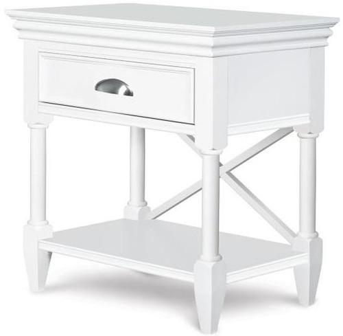 Moxy Open Nightstand White