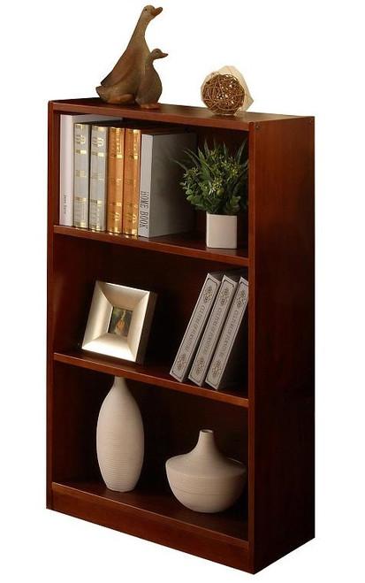 Ferguson Brown Cherry 3 Shelf Bookcase