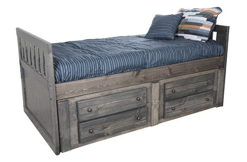 Gracie Driftwood Twin Captains Bed