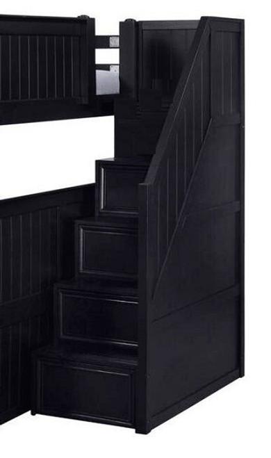 Eberhardt Black Loft Bed Stairs