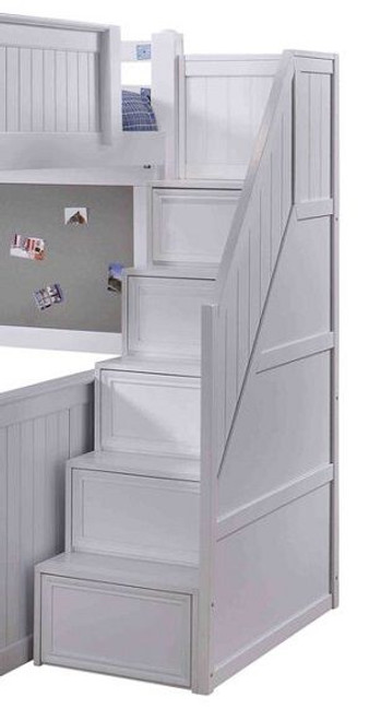 Eberhardt White Loft Bed Stairs