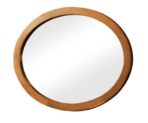 Mame Oak Oval Mirror