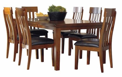 Clayton Warm Brown 7 Piece Dining Table Set