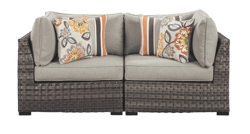 Seacliff Set of 2 Outdoor Corner Chairs front view