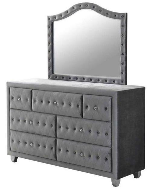 Diana Upholstered 7 Drawer Dresser