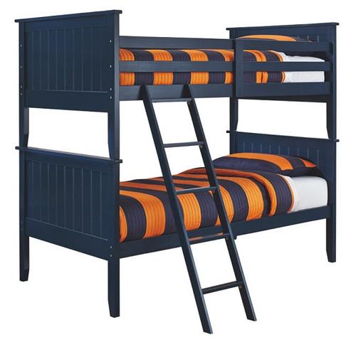 Bradley Blue Kids Twin Bunk Beds