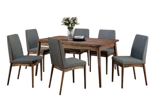 Saul 5 Piece Rustic Dining Table Set