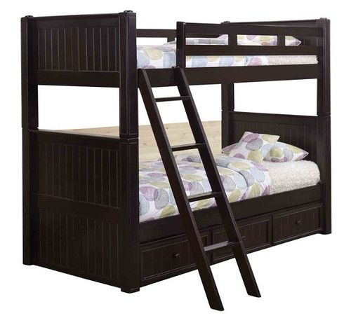 Foster Espresso Twin over Twin Bunk Beds