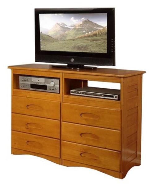 Stoney Creek Honey 6 Drawer Media Dresser
