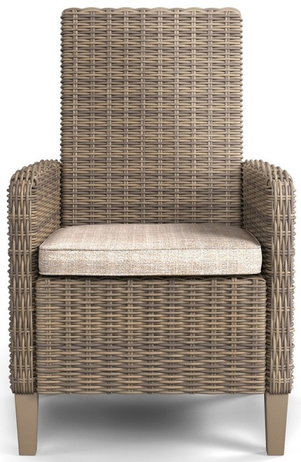Aruba Set of 2 Patio Arm Chairs single chair front view