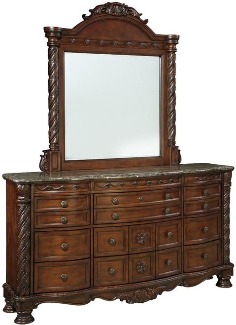 Raliegh Mirror Cherry with matching dresser