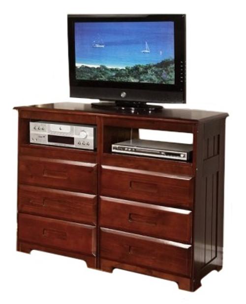 Ferguson Brown Cherry 6 Drawer Media Dresser