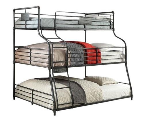 Reston Metal Twin over Full over Queen Triple Bunk Bed
