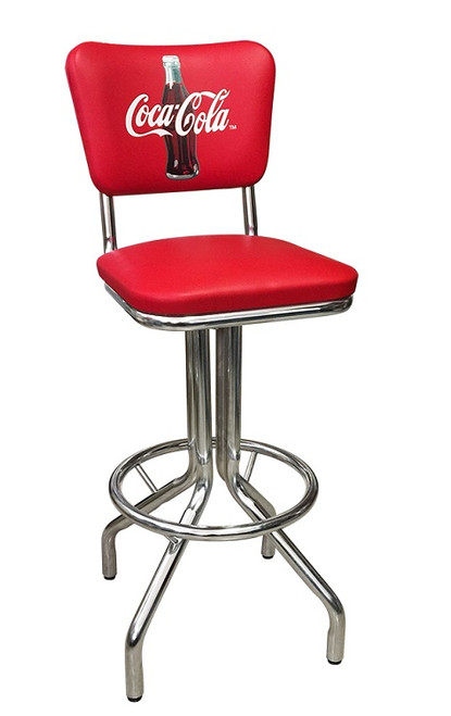 Coke Red Stool with Back