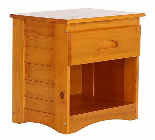 Stoney Creek Honey 1 Drawer Nightstand