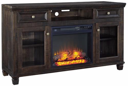 Herscher Coffee TV Stand with Fireplace Insert