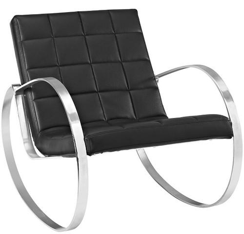 Meridian Vegan Leather Lounge Chair