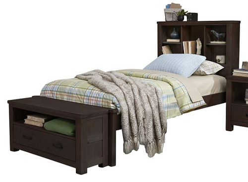 Nielsen Distressed Espresso Bookcase Bed twin size