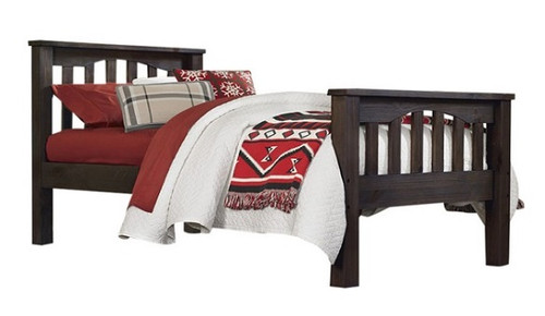 Nielsen Distressed Espresso Mission Bed twin size