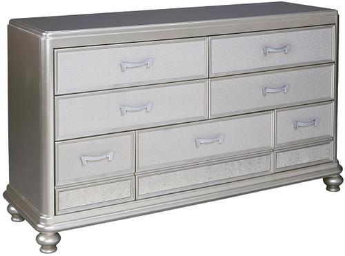 Moira Seven Drawer Dresser Silver