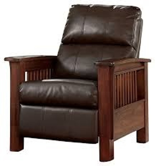 Morris Mission Style Leather Recliner
