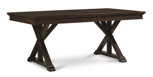 Kingsley Distressed Mocha Trestle Table