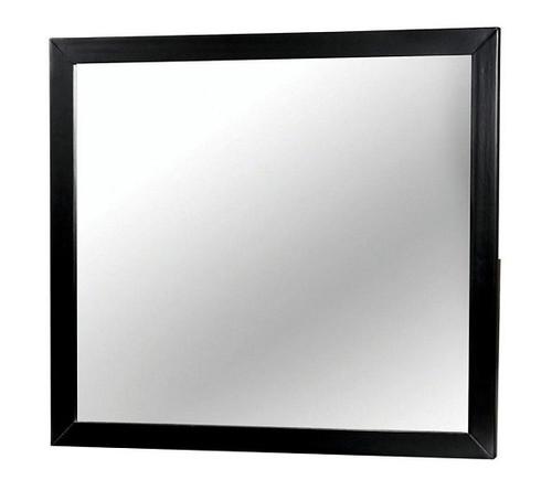 Decker Black Rectangle Mirror