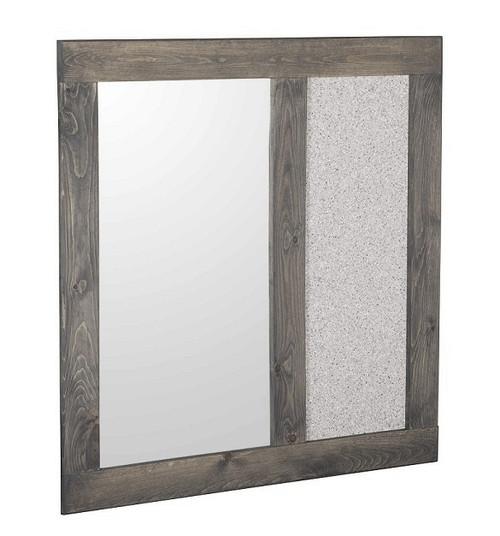 Harley Driftwood Corkboard Mirror