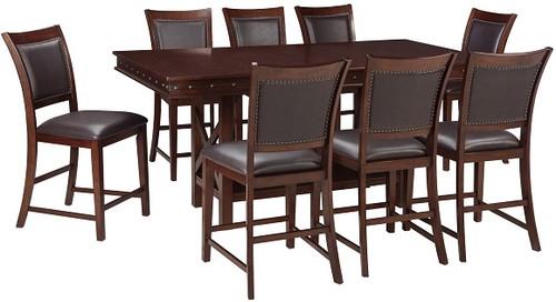 Marina Dark Brown 9 Piece Counter Height Dining Set