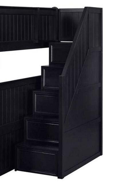 Eberhardt Black Bunk Bed Stairs