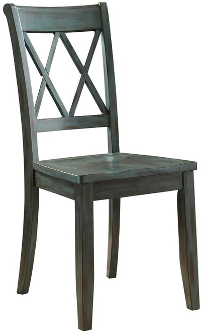 Coolidge Set of 2 Antique Blue Dining Chairs