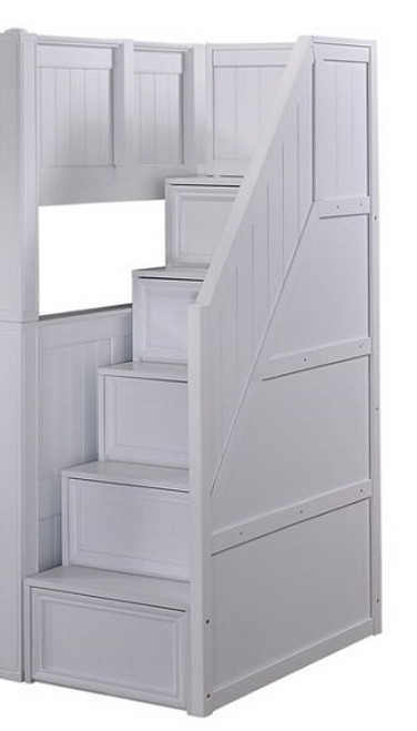 Beatrice White Bunk Bed Stairs