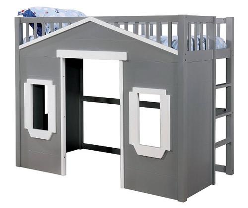 Camden Gray Twin Playhouse Loft Bed