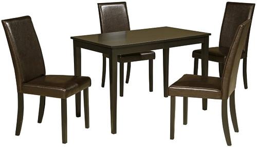 Pierce 5 Piece Dark Brown Dining Set