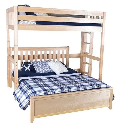 Becks Natural L Shaped Loft Bed