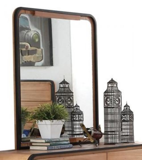 Jensen Oak and Black Rectangle Mirror