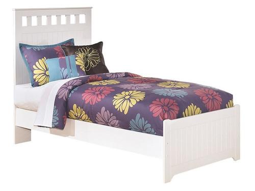 Milan White Bed twin size